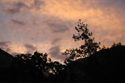 COLCA CANYON, PERU: Long after the sunbeams left us at the bottom of the canyon, the real sunset started to paint the sky.