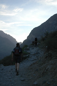 COLCA CANYON, PERU: Hiking out of the canyon in the morning.