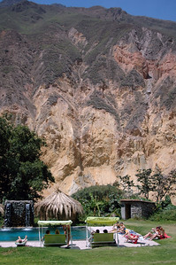 COLCA CANYON, PERU: Natural spring fed pool at the Oasis.