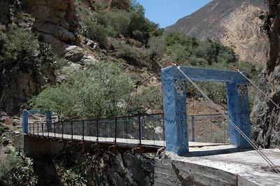 COLCA CANYON, PERU: Colca River bridge.
