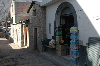CABANACONDE, PERU: A typical storefront along the way back from Colca Canyon.