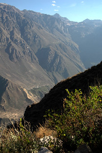 COLCA CANYON, PERU: We meet the sun at the lip of the canyon as it rises and we climb.
