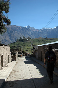 COLCA CANYON, PERU: Heading out of Cabanaconde towards Colca Canyon.