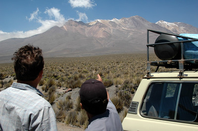CHACHANI, PERU: Jose, our guide points out where we're heading to on Chachani.