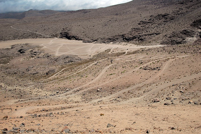 CHACHANI, PERU: The road we drove up.