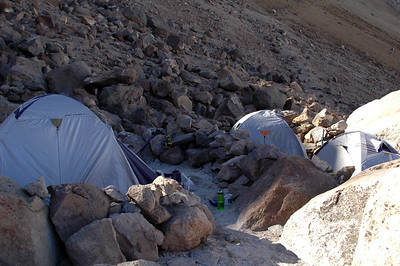 CHACHANI, PERU: Base camp.
