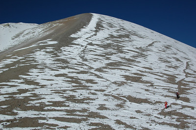CHACHANI, PERU: The last major slope as we tackle the face of Chachani.