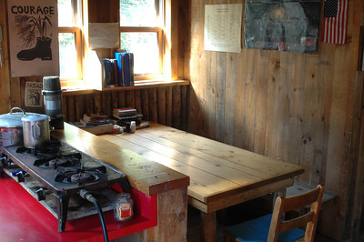 The Dining Room in Gray Knob Cabin.