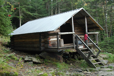 The Log Cabin... one of the shelters I check on.