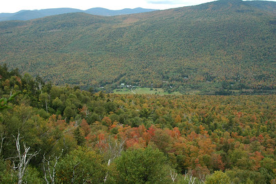The view from White Cliff. The Sugar Maple (Acer saccharum) is starting to turn.