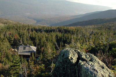 Gray Knob Cabin seen from above, on Gray Knob.