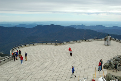 Mike Pelchat, Manager of the Mt. Washington State Park, gave me a tour of the area, including a climb up into the restricted area tower looking down on to the observation deck. This view can be checked out via a live web cam. Have a look to see what sort of weather I'm probably having at Gray Knob.
