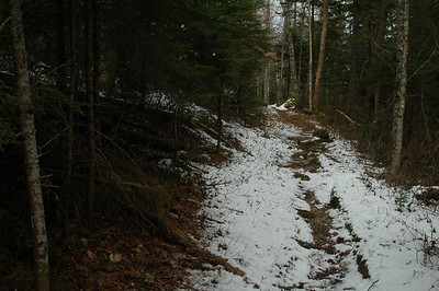 As we descend, the snow gives way to earth.
