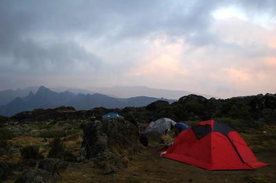 KILIMANJARO: The morning glow at Shira Camp.