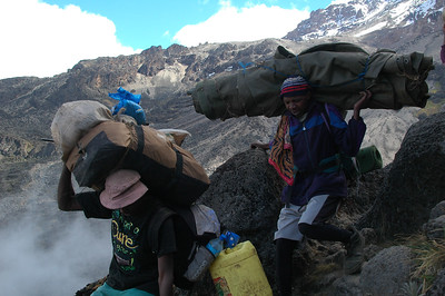 KILIMANJARO: Some loads look incredibly awkward. But they keep on going.