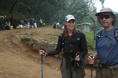 Climbing Mt. Kilimanjaro in Tanzania, Africa up the Machame route with Amy Andrews, George Andrews, Eric Bowers, Cameron Martindell starting on 11 September 2007. Six day climb. All made it to the summit: 5,895m.