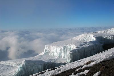 KILIMANJARO: A closer look at the glaciers.