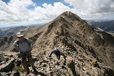 LA PLATA, CO - On Ellingwood Ridge looking back at La Plata Peak.