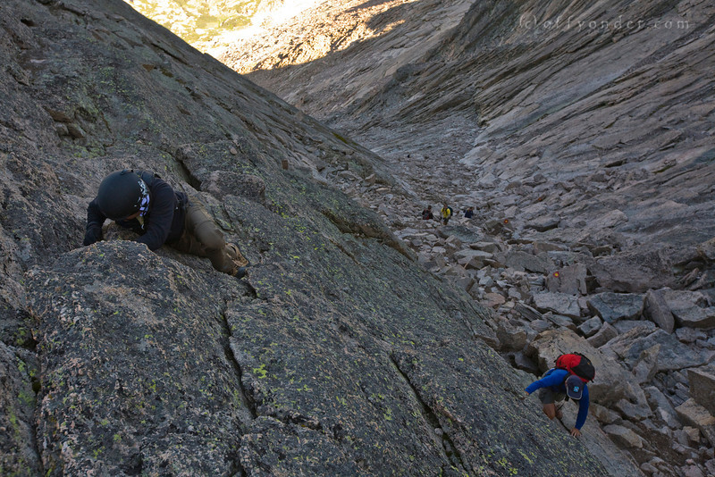 LONGS PEAK, CO - Mike and Steve opt for a more challenging route.