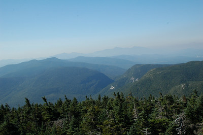 From the top of the tower, we can see Mahoosuc Notch, part of our hike for today.