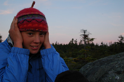 Once at the top, it's a little windy, and quite frankly, cold! McKenzie is happy to get her jacket and cap on.