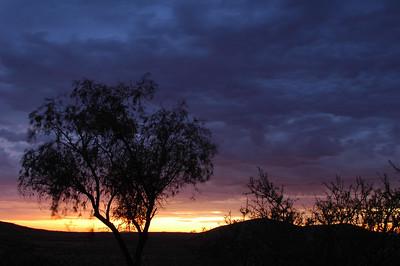 The progress of the sunrise.