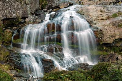 The upper Routeburn Falls