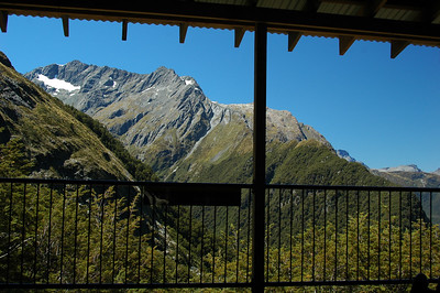 "The view from our ""hut' deck."