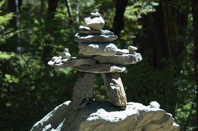 A creative cairn along the trail