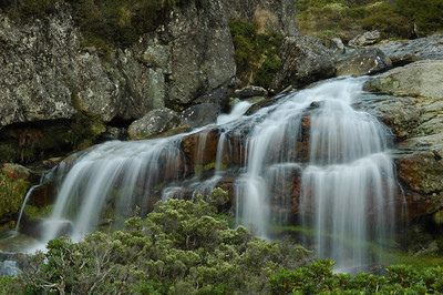 The upper Routeburn Falls