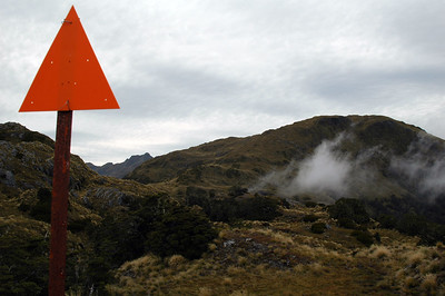 The trail markers had to be large and substantial up here. The weather can undoubtedly get very nasty.