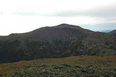 From the summit of Mt. Jefferson (5,716') looking to the towers of Mt. Washington (6,288'), my goal for the day (half way mark, really).