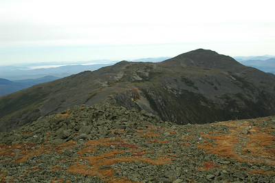 From Mt. Jefferson, looking back the way I came, Mt. Adams on the right.