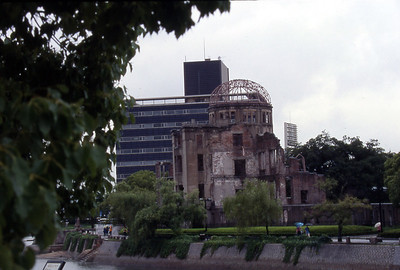 The A-dome, one of the few buildings that remained standing after the atomic bomb hit Hiroshima.