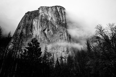 El Capitan in the mist