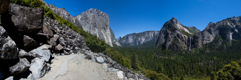 The Old Road, leading into Yosemite Valley.