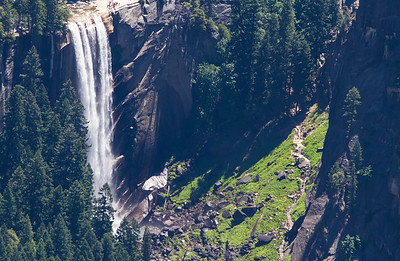 Vernal Falls & the Mist Trail as seen from Glacier Point