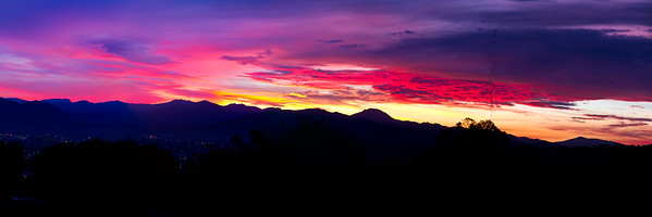 """Valley Sunrise"", Panorama format, 3:1"