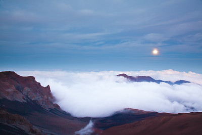 """Moon Over Haleakala"" Haleakala Crater National Park, Maui"