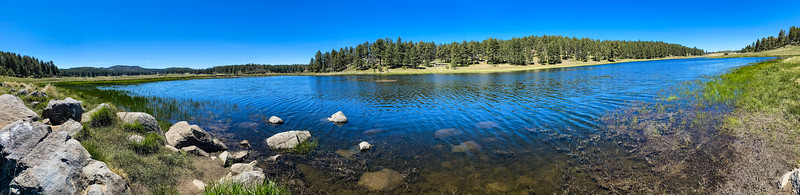 Big Laguna Lake in the Mt. Laguna Recreation Area. This is a panorama taken with an i-phone.