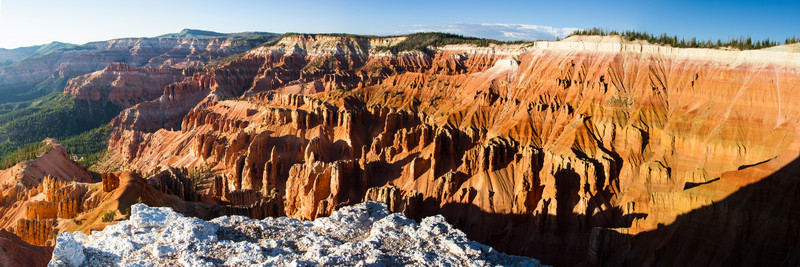 Cedar Breaks National Monument. Sunset view from Spectra Point. This is a 5 shot panorama in 1:3 format