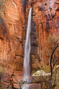 """Temple Falls"", Ephemeral Falls, Zion Canyon, Temple of Sinawava"