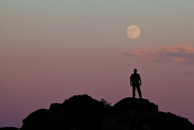 """Full Moon Rising"",  Anza Borrego State Park"