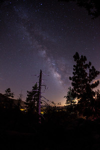 The Milkyway over Idyllwild Ca.