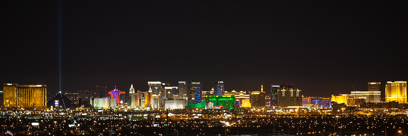 The Las Vegas skyline