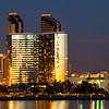 The San Diego skyline as seen from Coronado.This is a 2 shot composite