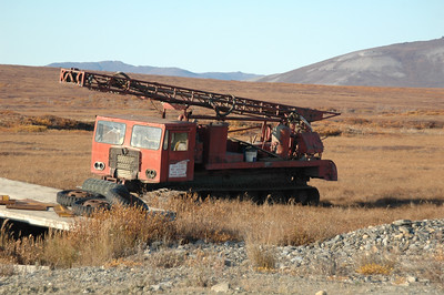 Leftover gold mining equipment.
