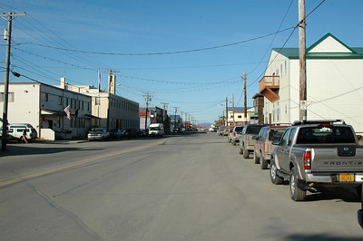 Front Street, Nome. The main drag through town and where the last stretch of the Iditarod runs.