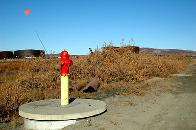 With all the snow Nome gets, hydrants are given a little extra boost and a flat off the top so they can be found if burried.