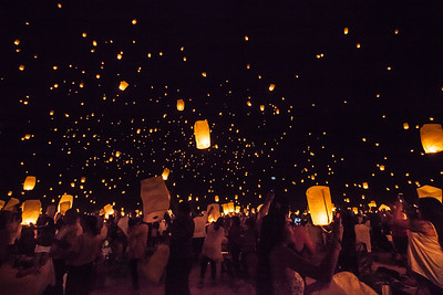 Light The Night Sky Lantern Festival in Imperial Ca.